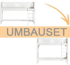 Oliver Furniture Umbauset Seaside halbhohes Hochbett zum Etagenbett mit gerader Leiter