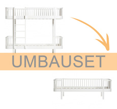 Oliver Furniture Umbauset Wood Etagenbett zum Bettsofa Weiß