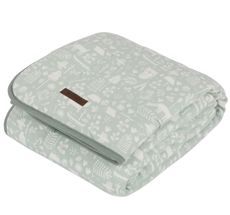 Little Dutch Wiegedecke Pure & Soft Adventure Mint