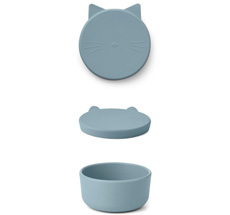 LIEWOOD Snack-Dose Cornelius Cat Dove Blue