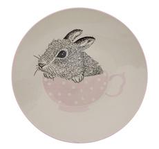 Bloomingville Ceramic Adelynn Hedgehog Bowl with Sky Blue