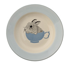 Bloomingville Ceramic Nanna Bowl, Off White/Nude - More In