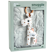 Done by Deer Decke Quilt 80 x 100 cm Grey Geschenk-Set •