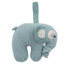 Sebra Häkel-Spieluhr Fanto der Elefant Lagoon Blue •
