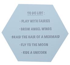 Bloomingville Schild To Do List ... Sky Blue/Grey •