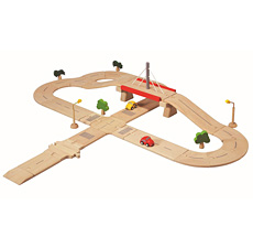 PlanToys Straßennetz Deluxe •