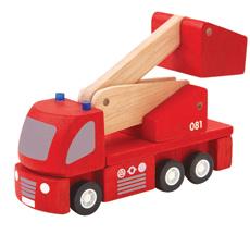 PlanToys Feuerwehrauto mit Kran •