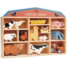 Tender Leaf Toys Bauernhoftiere im Setzkasten