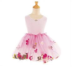 Kostüm Blumenrock Pink L
