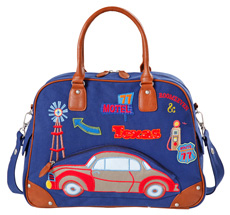 Room Seven Wickeltasche Car Blau