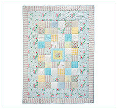 Room Seven Quilt Patchwork Blue / White / Yellow 160x220