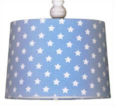 Deckenlampenschirm Sterne Hellblau •