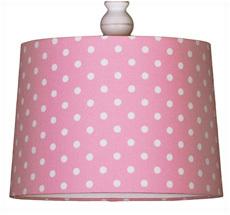 Deckenlampenschirm Rosa mit Punkten •