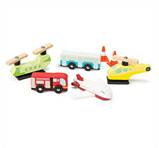 Le Toy Van Flughafen Set Chocks Away •