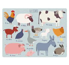 Petit Jour Paris Platzset Tiere Bauernhof