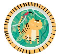 Petit Jour Paris Melamin Kinderteller Tiger 21 cm •