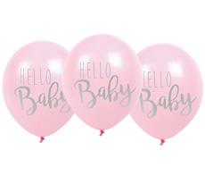 "JaBaDaBaDo Luftballon ""Hello Baby"" Pink 6er-Set"
