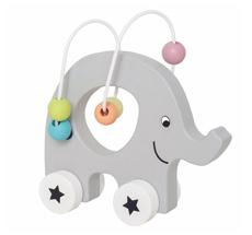 JaBaDaBaDo Nachziehtier Elefant mit Perlen Labyrinth
