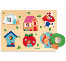 Djeco Holzpuzzle Coucou-house