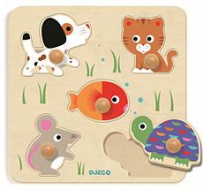 Djeco Reliefpuzzle Bulle & Co