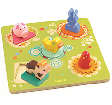 Djeco Holzpuzzle Duck & Friends