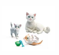 Djeco Puppenhaus Figuren Katzen
