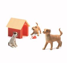 Djeco Puppenhaus Figuren Hunde