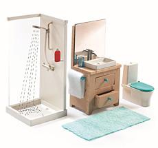 Djeco Puppenhaus Einrichtung Badezimmer