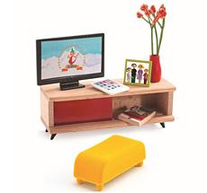 Djeco Puppenhaus Einrichtung Fernsehzimmer