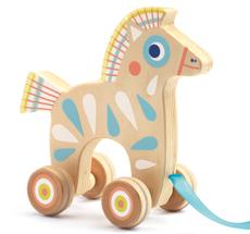 Djeco Nachziehtier Baby White Pferd