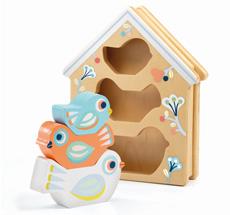 Djeco Steckspiel Baby White BabyBirdi
