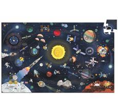 Djeco Wimmelpuzzle Der Weltraum mit Booklet 200-teilig