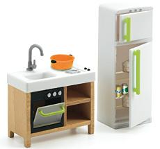 Djeco Puppenhaus Küche Compact Kitchen