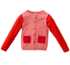 "Room Seven Cardigan ""Kumiko"" Rosa/Orange/Rot"