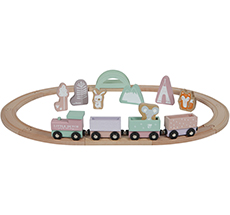Little Dutch Holz-Eisenbahn mit Schienen Adventure Pink