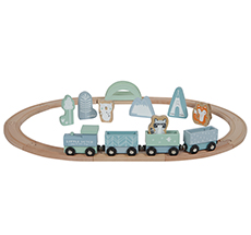 Little Dutch Holz-Eisenbahn mit Schienen Adventure Blue
