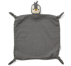 LIEWOOD Schmusetuch Agnete Penguin Stone Grey