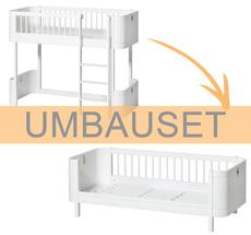 Oliver Furniture Umbauset Wood Mini+ halbhohes Hochbett zum Juniorbett Weiß
