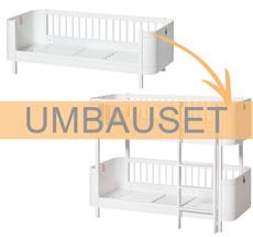 Oliver Furniture Umbauset Wood Mini+ Juniorbett zum halbhohen Etagenbett Weiß