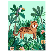 Petit Monkey Poster Tiger