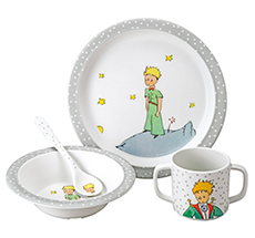 Petit Jour Paris Geschirr-Set in Geschenkbox Der Kleine Prinz 4-teilig