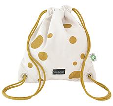 Roommate Turnbeutel Gym Bag Gold/Off-White Bio-Baumwolle