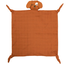 Roommate Kuscheltuch Dog Brown Bio-Baumwolle