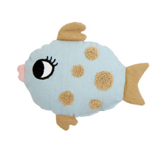 Roommate Rassel Fish Light blue Bio-Baumwolle