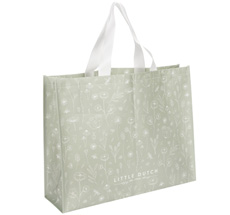 Little Dutch Tasche Shopper Wild Flowers Olive