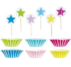 JaBaDaBaDo Cupcake-Set Blau/Pink