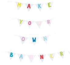 JaBaDaBaDo Buchstaben-Wimpelkette zum Selbstgestalten