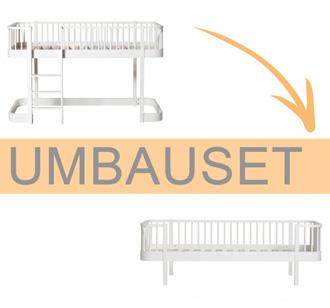 Oliver Furniture Umbauset Wood Halbhohes Hochbett zum Bettsofa Weiß