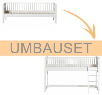Oliver Furniture Umbauset Seaside Einzelbett/Bettsofa zum halbhohen Hochbett