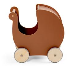 Sebra Puppenkinderwagen aus Holz Dark Amber